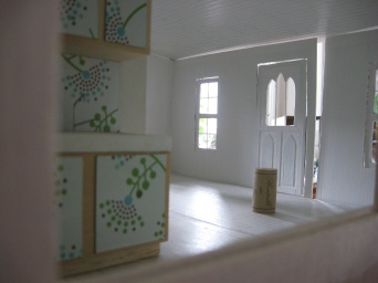Unfinished interior with wine cork.