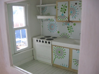 Looking into the kitchen.